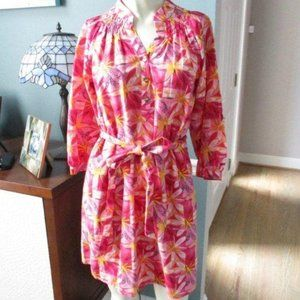 Lilly Pulitzer Jubilee Pink Floral Silk Blend XS